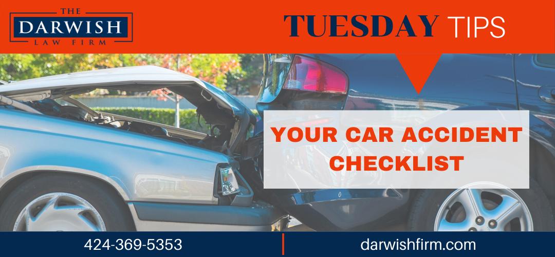 TUESDAY TIPS: Car Accident Checklist
