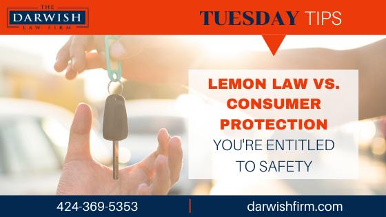 TUESDAY TIPS: Lemon Law vs. Consumer Protection